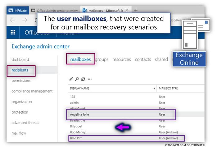 Preparing the user mailbox deletion scenario infrastructure - Phase 1-5 - 02