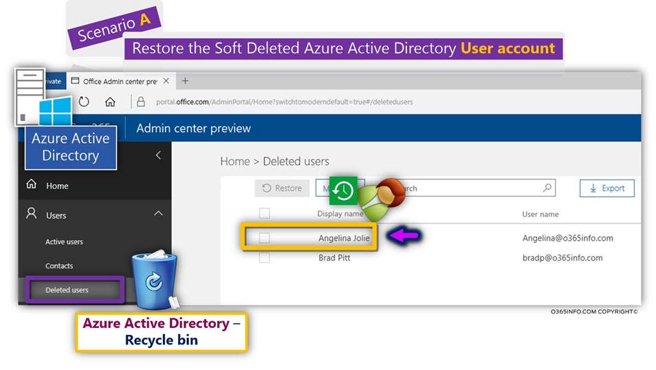 Restore the Soft Deleted Azure Active Directory User account Using Azure Active Directory recycle bin -00
