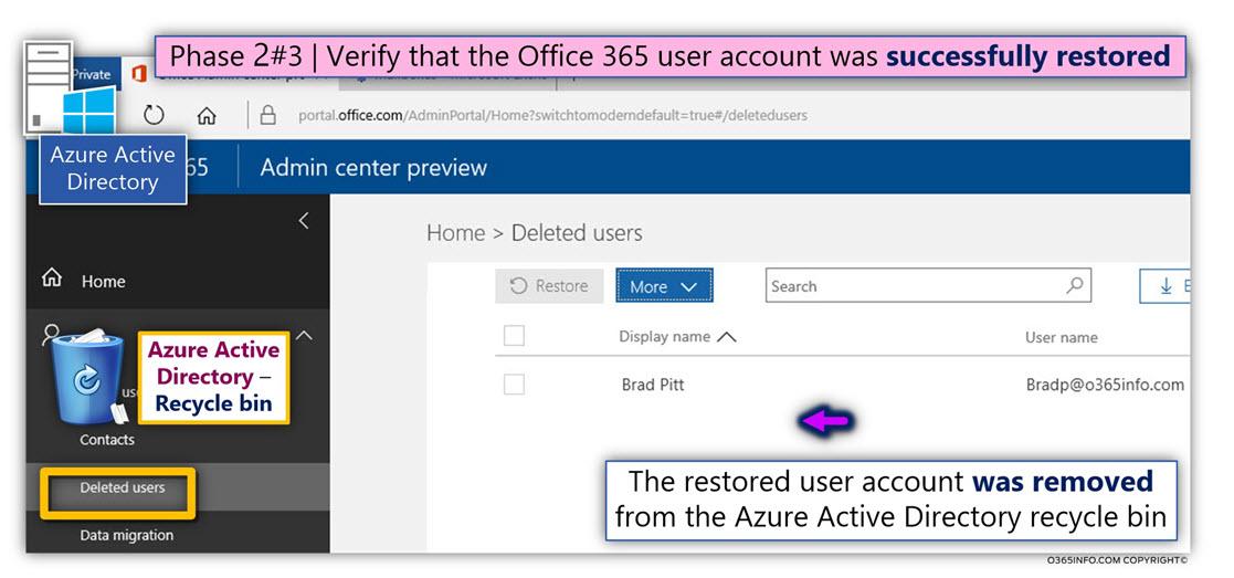 Restore the Soft Deleted Azure Active Directory User account Using Azure Active Directory recycle bin -04
