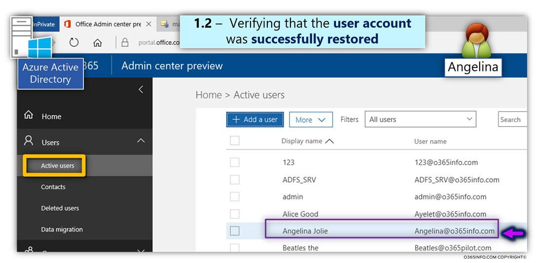 Restore the Soft Deleted Azure Active Directory User account Using Azure Active Directory recycle bin -05