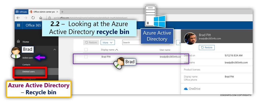 Restore the Soft deleted Exchange Online user mailbox using PowerShell - Undo-SoftDeletedMailbox -02