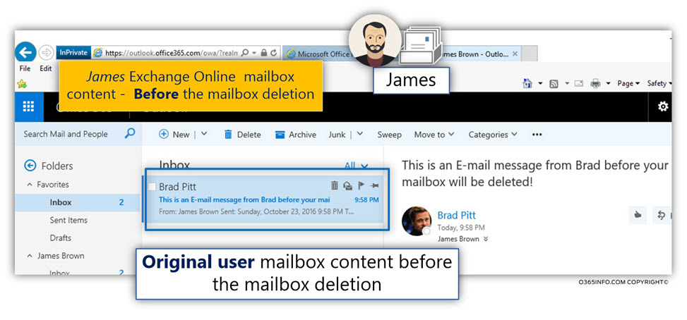 Original user mailbox content before the deletion -01