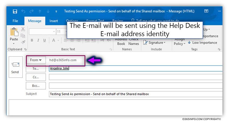 Testing the Send as permission -06