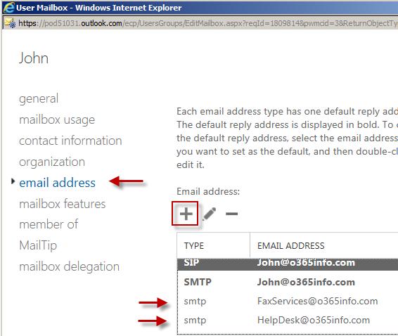Add additional Email address( Alias) -02