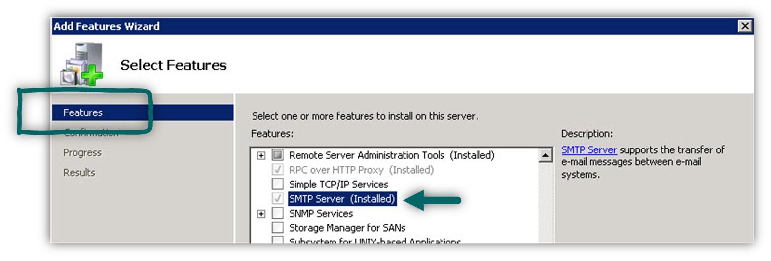 Installing IIS SMTP server -01