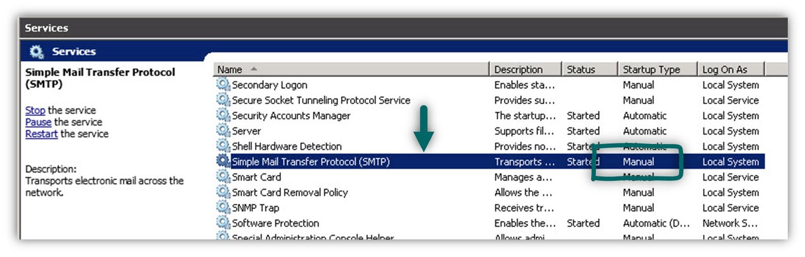 Installing IIS SMTP server -02