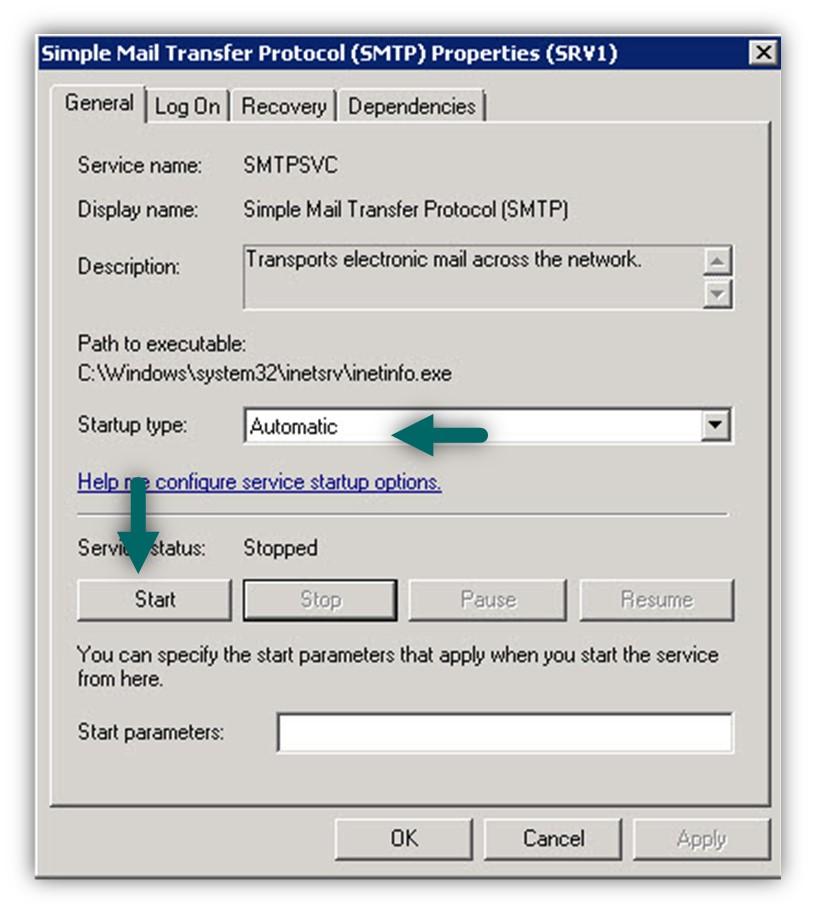 Installing IIS SMTP server -03
