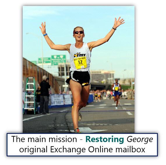 The main mission - Restoring George original Exchange Online mailbox