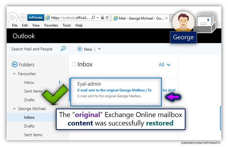 The original Exchange Online mailbox was restored -05