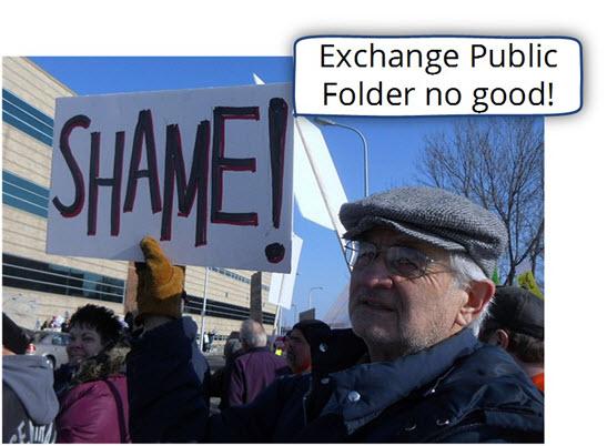 Exchange Public Folder no good