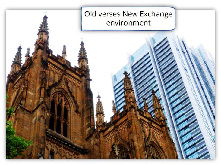 Old verses New Exchange environment