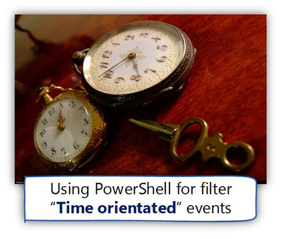 Using PowerShell for filter ?Time orientated events