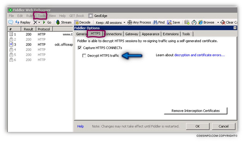 Configuring Fiddler to decrypt HTTPS traffic 02