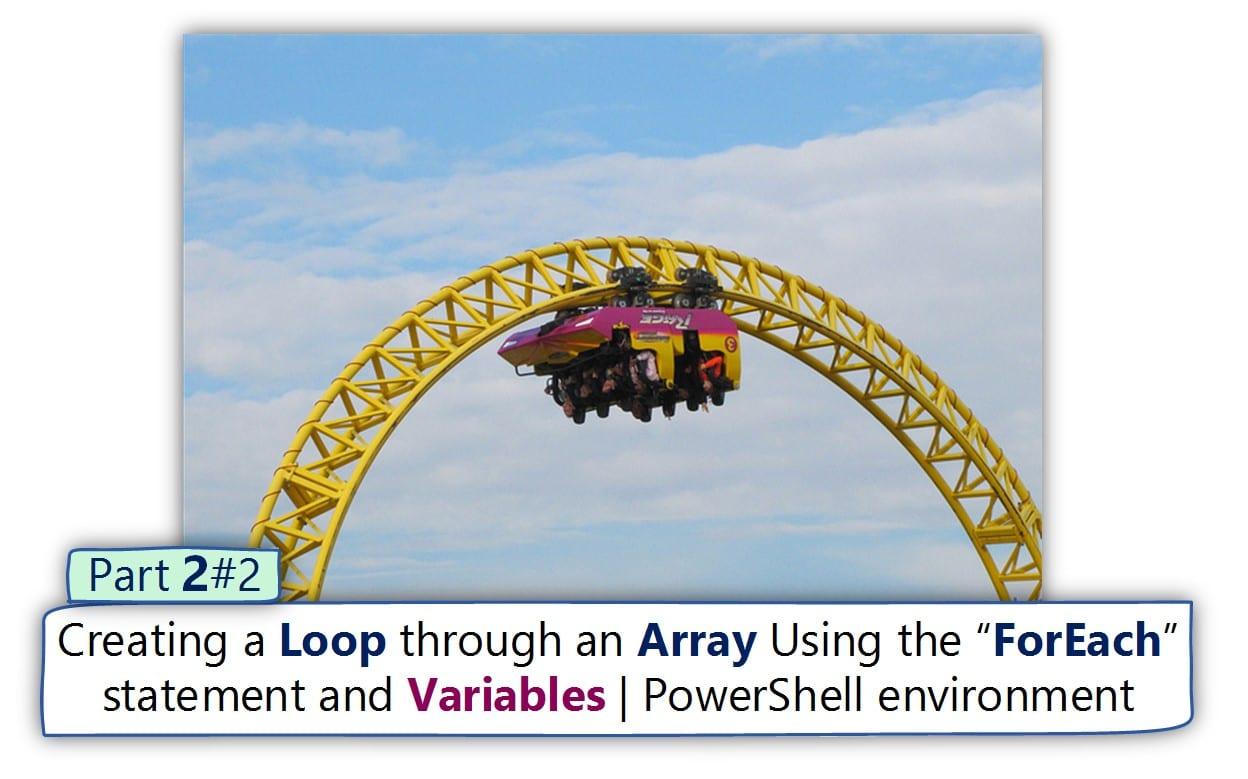 Creating a Loop through an array Using the