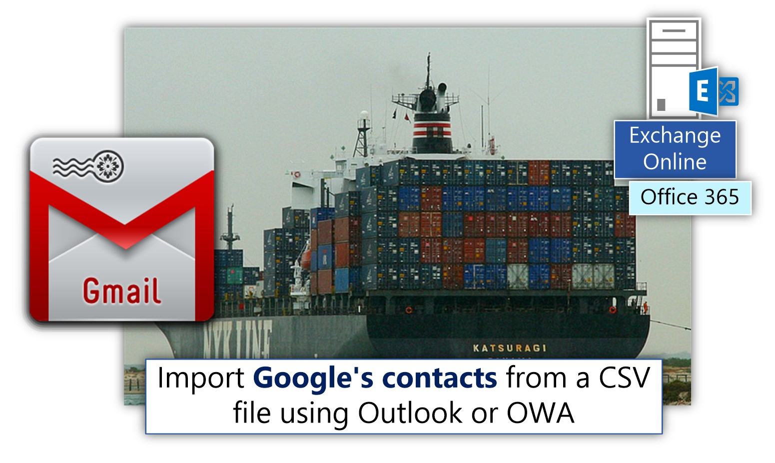 Import Google's contacts from a CSV file using Outlook or