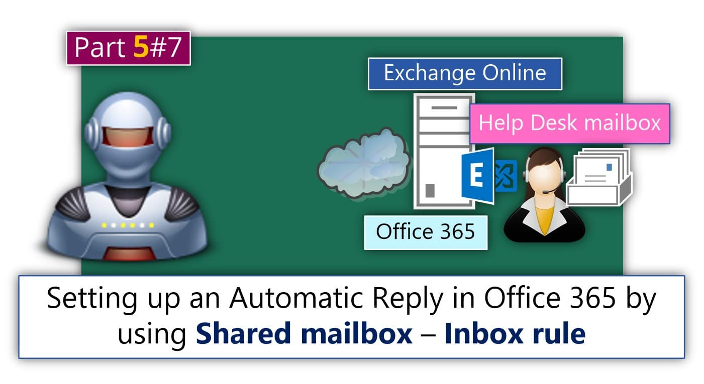 Setting up an Automatic Reply in Office 365 using mailbox rule and