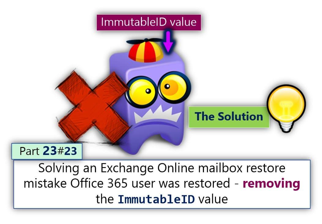 Solving an Exchange Online mailbox restore mistake Office